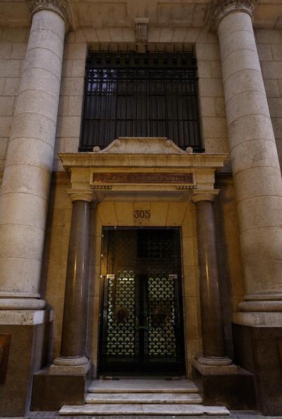 Entrada del Museo Numism�tico de Cuba