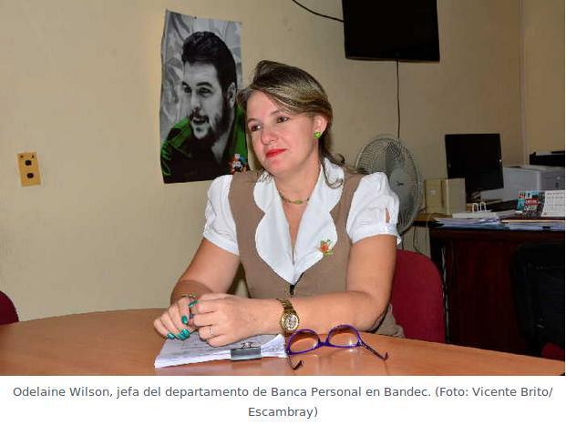 Odelaine Wilson, jefa del departamento de Banca Personal en Bandec
