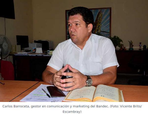 Carlos Barroceta, gestor en comunicación y marketing del Bandec